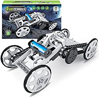 STEM 4WD Mechanical Assembly Science Toys Kit | Intro to Engineering, DIY Climbing Vehicle, Circuit Building Projects for Kids and Teens | DIY Experiments Using Real Motor