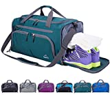 Venture Pal 20' Packable Sports Gym Bag with Wet Pocket & Shoes Compartment Travel Duffel Bag for Men and Women-Green