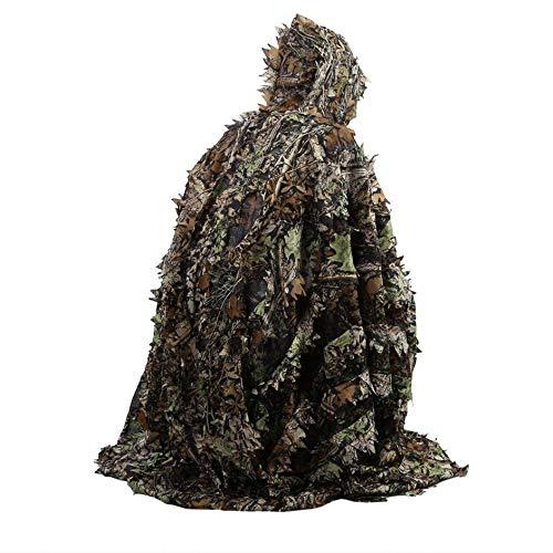 3D laat camouflage-poncho mantel huiselijkheid klagen Woodland CS-kleding buiten