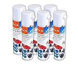Peach Universal Druckluftreiniger PA100, 400 ml, 6 Stück | präzise, dank Sprühkopfverlängerung | ideal für die Reinigung im Haushalt und Büro | auch für empfindliche Geräte | Made in Germany