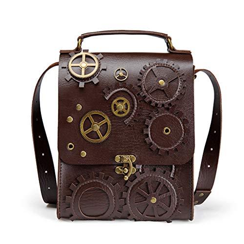 Bingxue Retro Steampunk mujeres bolsos de hombro vintage reloj dinero embrague bolso diario señoras casual crossbody moda personalidad accesorios