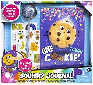 Tara Toys Squishy Journal, Pen, and Sticker Set (One Tough Cookie)