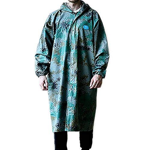 PinkSally Camouflage Rain Coats for Adults with Hoods Long Waterproof Jacket Windbreaker
