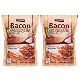 Bacon Crumbles Naturally smoked Bacon Crumbles | 100% real bacon | Fresh-Lock zipper resealable pouch | Refrigerate after opening 20 oz bag | 2 Pack