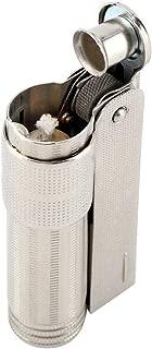 No Fuel Lighter Vintage Old Fashioned Cigarette Cigar Lighter Stainless Steel Oil Lighter Portable Oil Firelighters for Gentlemen