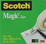 Scotch 810342592 Magic Tape Refill, 3/4' x 2592', 3' Core, Clear