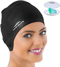 Swim Cap for Long Hair – Silicone Swimcap for Long Hair | Swimming Caps for Women..