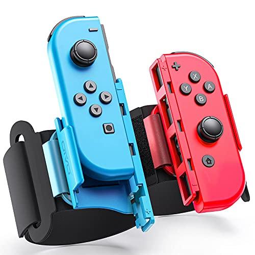 OIVO Switch Armband kompatibel mit Nintendo Switch Just Dance 2021 2020 2019, Verstellbare Elastische Handgelenksband für Switch Zumba Just Dance, Wristband für Nintendo Switch Zubehör, 2er-Pack