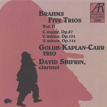 Brahms: Five Trios, Volume II