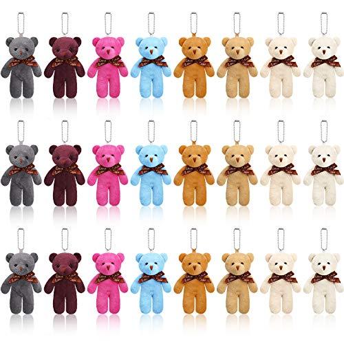 Mini Teddy Bär Spielzeug 4,7 Zoll Gefüllte Winzige Bär Gelenk Teddybär Weiche Winzige Bär Puppe für DIY Schlüsselbund Geburtstag Weihnachten Dekorationen Party Favor