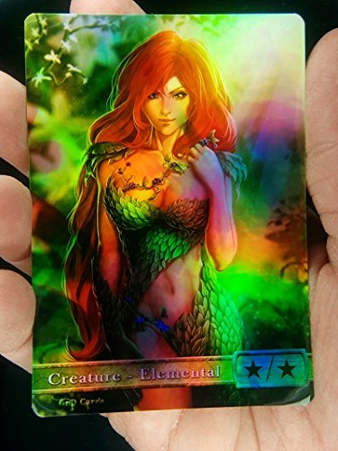 GnD Cards 1x G/W Elemental #3 FOIL Laminated Full Altered Tokens MTG(for Voice of Resurgence)