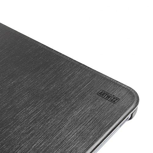 Artwizz SmartJacket Handyhülle Designed für [HTC Desire 816] - Schutzhülle in gebürsteter Metalloptik, Rückseiten-Clip mit Soft-Touch - Schwarz