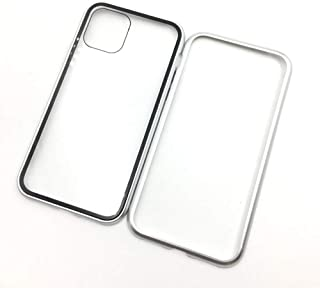 For iPhone 11 magnetic mobile phone shell all-inclusive for Apple 11 double glass Case magnetic Protective cover metal fra...