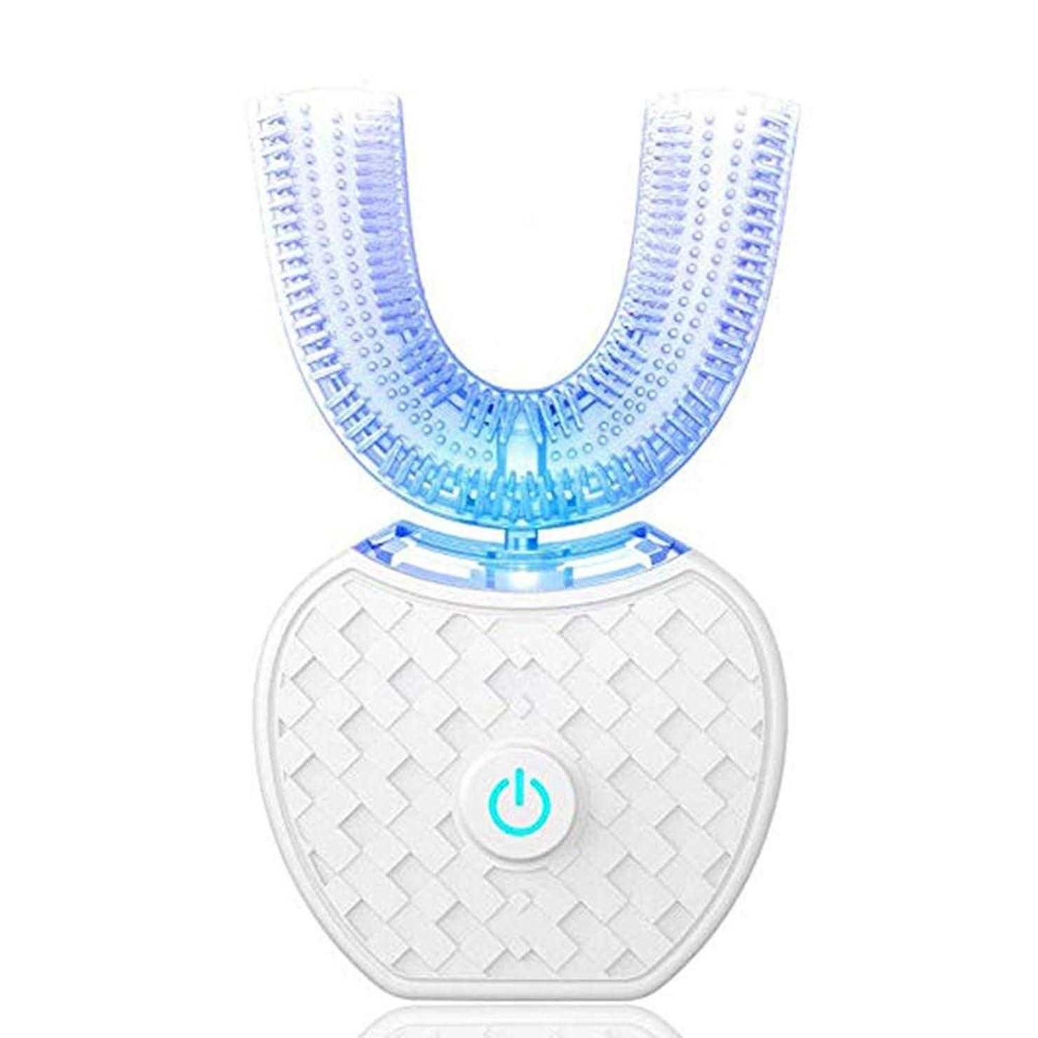 米国宗教アクセントCoolTack ?電動歯ブラシポータブル自動LEDライトIPX7を白くする歯は手を放します