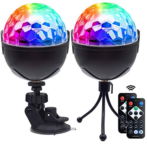 Disco Ball Party Lights,Sound Activated Disco Lights with Remote Control,7 RBG Modes Atmosphere Strobe Light for Home Room Dance Birthday DJ Bar Karaoke Xmas Wedding Show Club Pub (Multicolor)