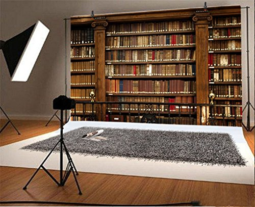 YongFoto 3x2m Vinilo Fondo de Fotografia Magnífica Biblioteca de Libros y pergaminos Antiguos Telón de Fondo Fiesta Niños Boby Boda Adulto Retrato Personal Estudio Fotográfico Accesorios