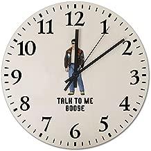 Maverick-Inspired-Character-Art-Top-Gun-1986 Wooden Frameless Silent 12 inch Wall Clock, Suitable for Living Room Guest Room Villa