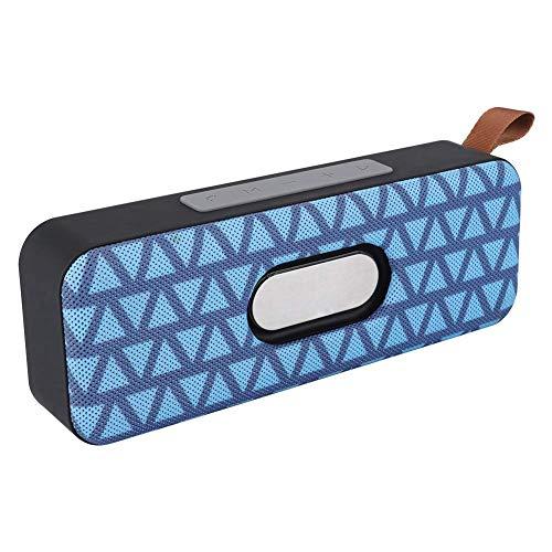 DBGS Bluetooth luidspreker, beweegbare draadloze Bluetooth 4.2 Dual luidspreker muziek soundbar ondersteuning TF-kaart oplaadbare mini-luidspreker voor iPhone, iPad, tablet, smartphone, blauw