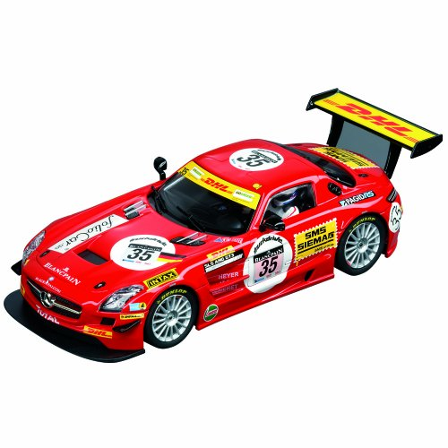 Carrera Digital 132 - 20030611 - Voiture Miniature et Circuit - Mercedes SLS GT3 Blackfalcon - No. 35 - 24h Spa - 2011