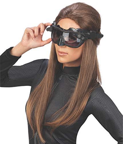 Rubie 's Officieel Catwoman Deluxe masker en oren, Batman accessoire voor volwassenen, eenheidsmaat, zwart