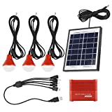 TOPINCN Kit De Generador Solar Portátil Fuente De Alimentación De Emergencia Paneles Solares 4W Batería Recargable USB 3.7 V Energía Solar Led Bombilla