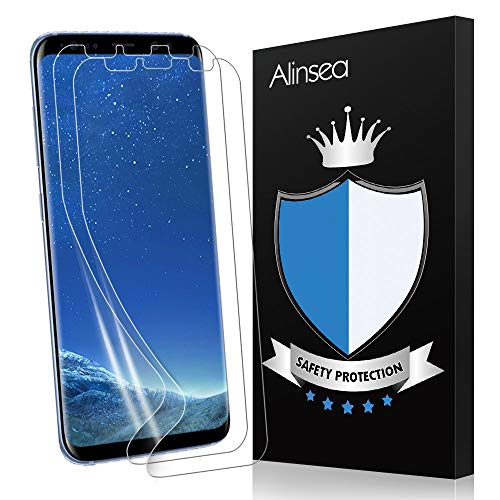 Alinsea Schutzfolie für Samsung Galaxy S8 Plus Schutzfolie, [2 Stück] [TPU-Folie [kein Glas] HD Soft Bildschirmschutz Bildschirmschutzfolie Bildschirm Folie für Samsung Galaxy S8 Plus