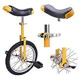 Desconocido Rueda Profesional de 16 Pulgadas para Bicicleta o Ciclismo, con diseño somatológico de neumáticos de montaña Antideslizantes, Color Amarillo