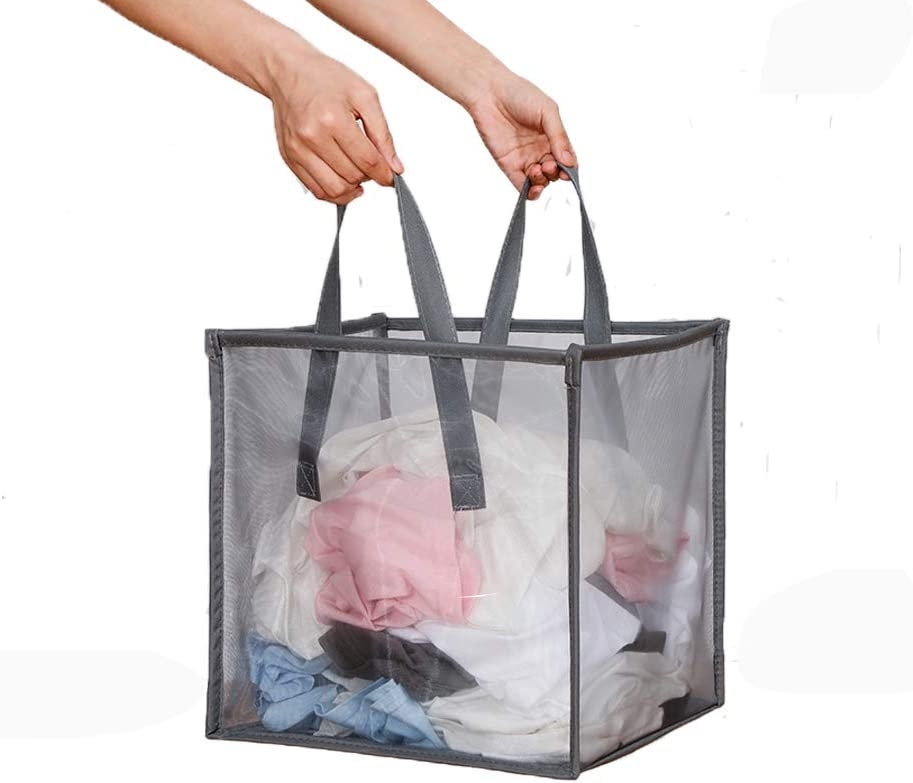 Mesh Popup Laundry Hamper Special Japan Maker New sale item with Portable Collapsi Durable Handles