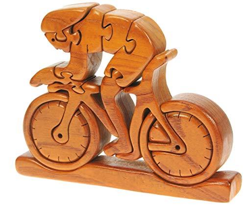 Bicicletta da Corsa : Puzzle Legno 3D : Rompicapo Adulti Bambini : Idea del Regalo di Natale o di Compleanno16 x 21 x 3cm