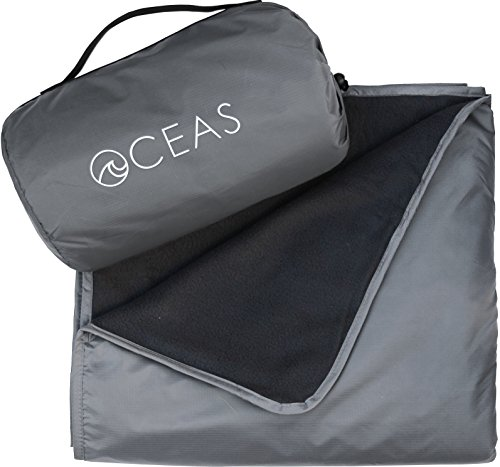 Outdoor Waterproof Blanket by Oceas – Warm Fleece Great for Camping, Outdoor Festival, Beach, and Picnic Use – Extra Large All Weather and Waterproof Throw Blanket
