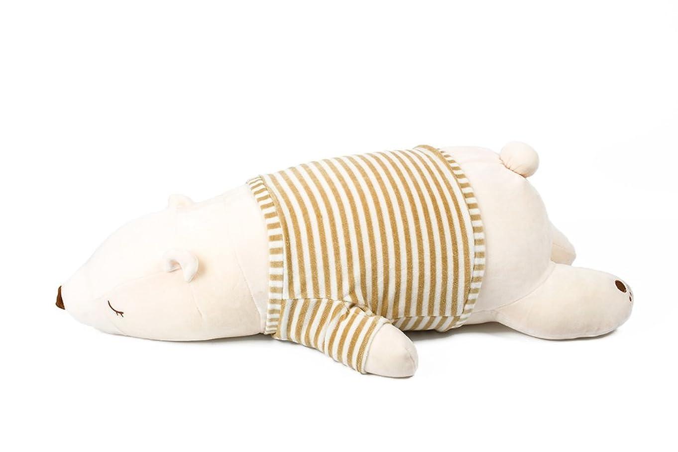 描く月曜を除くIKASA 抱き枕 プレミアム ねむねむ くま とろけるような肌触り クマ 柔らかい ぬいぐるみ だきまくら クッション すやすや寝る 熊 Lサイズ ホワイト 76x33x23cm