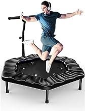 Trampoline 48 Inch, Folding Indoor Trampolines Met Verstelbare Handgreep, Fitness Trampoline Trampoline For Kinderen Volwa...