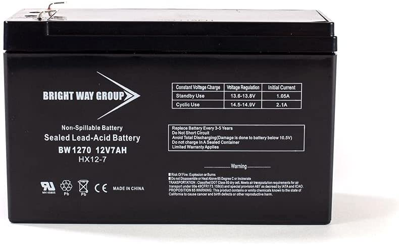 free Rare Bright Way Replacement Battery for SLA U Falcon 7Ah SG2K-X2T 12V