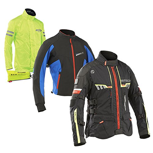 MTECH RAINFOREST WARM motorjack Tourisme L Zwart/Geel