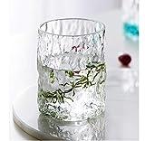 Vaso de cristal para agua, zumo, cerveza, leche, resistente al calor, sin cubrir, para sala de estar, té, hogar