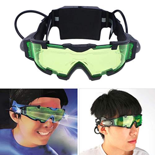 MAICOLA Kinder-Nachtsichtbrille Sicherheit Grün Brille Schutzbrille Adjustable Nachtbrille für Outdoor Radfahren Skifahren Gläser
