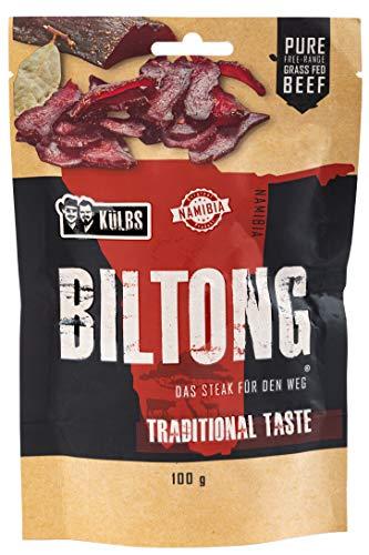 Biltong - Das Original aus Namibia von Külbs® | proteinreicher, saftiger Snack [NEUZUGANG] ähnlich wie Beef Jerky | Rindfleisch aus 100% Freilandhaltung (Traditional, 300 GR)