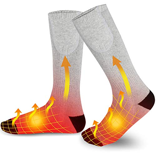 Bodybay Heated Socks for Men and Women, 4500mA Upgraded Rechargeable 12 Hours Long Battery Life...