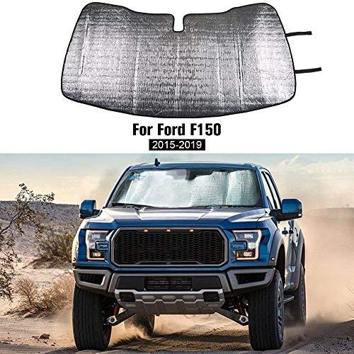 Windshield Sunshade, Car Front Window Sun Shade Foldable Sun Visor for Ford F150...