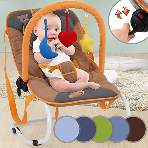Hamaca para Bebé - Reclinable con Sistema de Bloqueo y Arnés de 3 Puntos, para Bebés de...