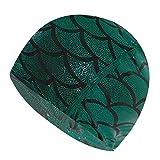 Sirena Tela Gorro de baño Alberca proteger los oídos Cabello largo del sombrero de la nadada de baño de nylon sombreros casquillos for las mujeres de los hombres adultos ( Color : Mermaid skin No. 1 )
