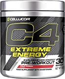 C4 Extreme Energy Pre Workout Powder Fruit Punch | Preworkout Energy Drink Supplement for Men & Women | 300mg Caffeine + Beta Alanine + Creatine Monohydrate | 30 Servings