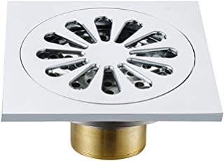 ステンレス製シャワー床排水 排液流昆虫浴室シンクドレイン臭はキッチン、バスルーム、ガレージ(10×10×5 Cm)で ステンレス鋼の正方形のバスルームの床ドレン (色 : グレー, サイズ : 10 x 10 x 5 cm)