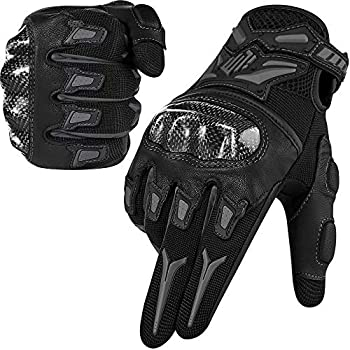 ILM Motorcycle Motocross Cycling Off-Road Dirt Bike Gloves for Men Women Touchscreen Hard Knuckle ATV MTB Guantes  Gray L