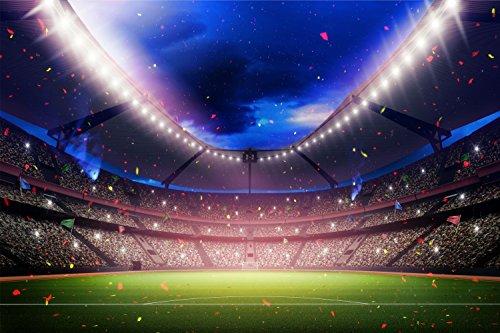 Fussball Stadion Bild XXL Wandbild Kunstdruck Foto Poster P1212 Größe 120 cm x 80 cm
