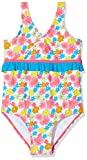 Playshoes Mädchen UV-Schutz Badeanzug Blumenmeer Einteiler, Mehrfarbig (Pink 18), 122 (Herstellergröße: 122/128)