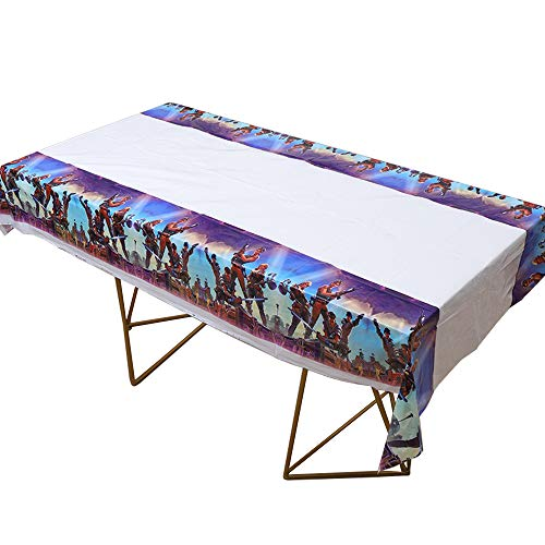 """1pack the new Video Game Party and Battle Royale Party Themed Birthday Party Decorations – Disposable Battle Royale Party Plastic Tablecloth   86 x 51"""", Disposable Table Cover  Battle Royale Party Party Supplies for Battle Royale's fans"""