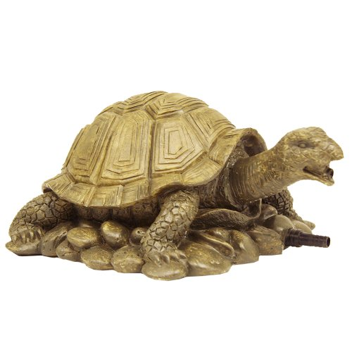 Beckett Corporation Turtle Spitter Statue - Décor for Your Pond, Fountain, Deck, Porch, and Water Garden - Lifelike Yard Art, Gold