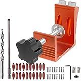 Pocket Hole Jig Kit Pocket Hole System 48 PCS Aluminum Woodworking Punch Locator Tool