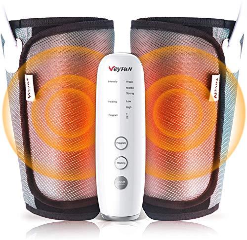 VeyFun Beine Massagegerät,Wadenmassagegerät,Oberschenkel Beinmassagegerät,mit Wärme Funktion,3 Intensitäten 2 Modi,Mit Handheld-Controller,für meisten Größen, für Hause, Büro und Reise Geeignet